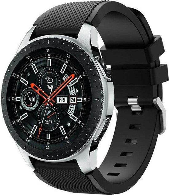 Samsung Galaxy Watch silicone bandje - zwart - 45mm / 46mm