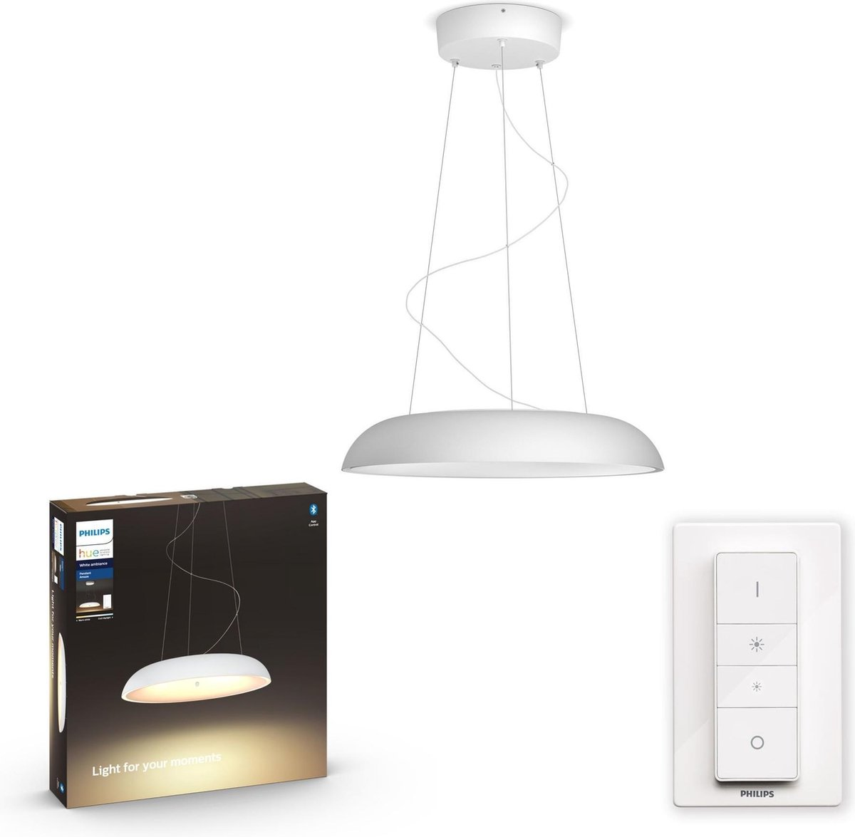 Philips Hue Amaze Pendant Hanglamp - White Ambiance - Wit - Bluetooth - Inclusief Dimmer Switch
