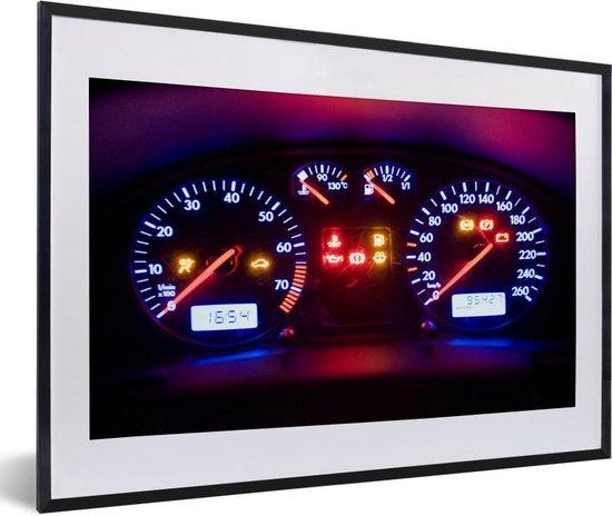 Bol Com Foto In Lijst Dashboard In Een Auto Fotolijst Zwart Met Witte Passe Partout 60x40 Cm