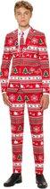 OppoSuits Winter Wonderland - Jongens Kostuum - Rood - Kerst - Maat 158/164