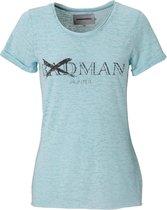 T-shirt dames - badman hunter - blauw - maat M