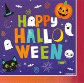 Amscan Servetten Halloween Junior 33 Cm Papier Paars 16 Stuks