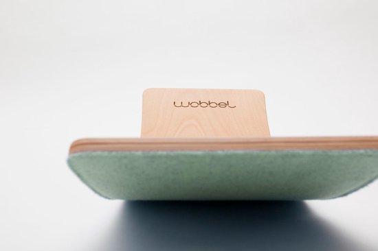 Wobbel Starter Bos (groen) - Houten balance board van 70 centimeter - Geschikt voor 0 tot 3 jaar