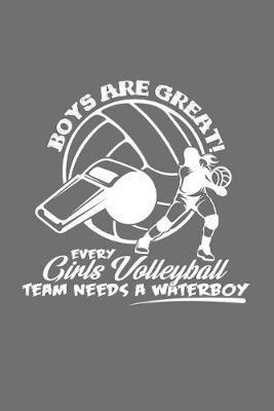 Girls waterboy volleyball: 6x9 Volleyball - dotgrid - dot grid paper - notebook - notes