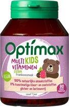 Optimax Multivitaminen Kids Extra Framboos - Voedingssupplement - 90 kauwtabletten