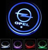Coole Lichtgevende LED Onderzetters - Bekerhouders - Sfeerverlichting - LED Licht - Interieur Verlichting - 7 Verschillende Kleuren LED - Opladen via USB – Opel