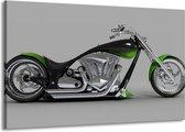 Canvas schilderij Motor   Groen, Grijs, Zwart   140x90cm 1Luik