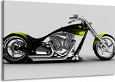 Canvas schilderij Motor   Grijs, Zwart, Groen   140x90cm 1Luik