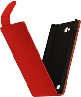 Wicked Narwal | Classic Flip Hoes voor sony Xperia E3 D2203 Rood