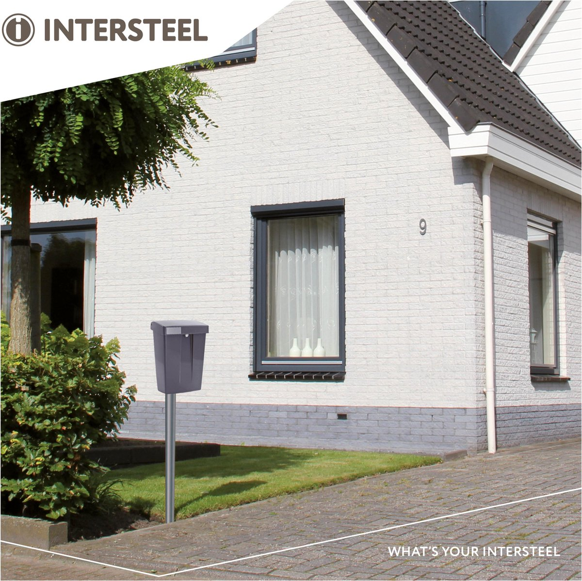 Intersteel Summus Brievenbus - Grijs - Intersteel