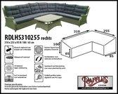 Raffles Covers RDLHS310255rechts 310 x 255 x 95 H: 100 / 65 cm taupe