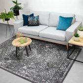 Vloerkleed Ambiance - Oriental Grijs Wit 80x150cm