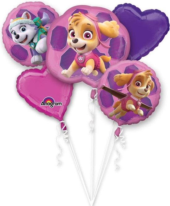 Bouquet Paw Patrol Skye & Everest Foil Balloon P75 packed