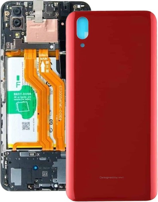 Let op type!! Original Back Cover for Vivo X21(Red)