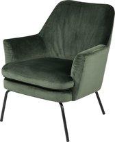 Lisomme fauteuil Jez - Fluweel - Donkergroen