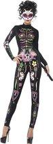 """""""Gekleurd skeletten Halloween kostuum voor dames  - Verkleedkleding - Medium"""""""