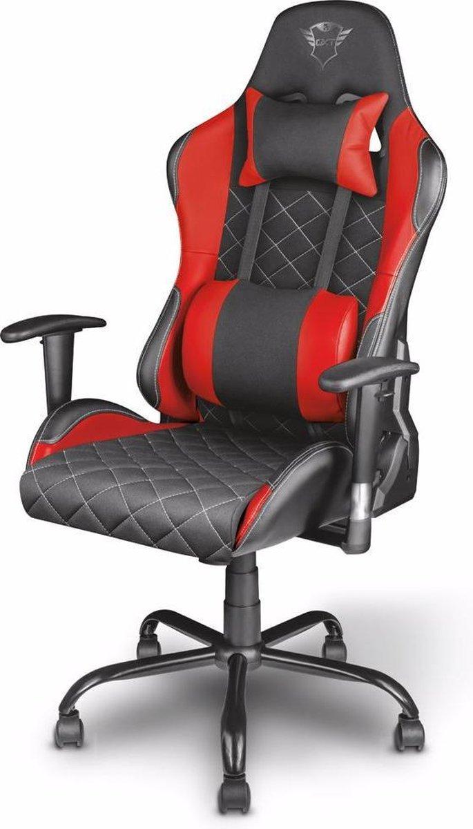 Trust GXT 707 Resto - Gaming Stoel - Bureaustoel - Zwart/Rood