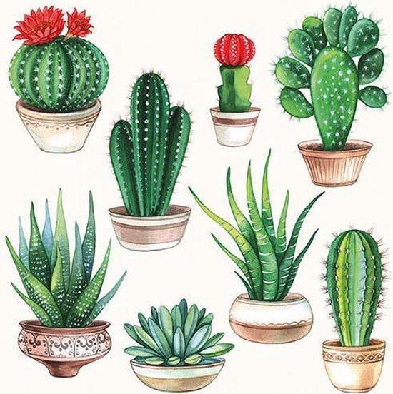 Ambiente Servetten - 33x33 cm - 20 stuks - Cactussen