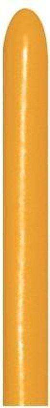 260 - Metallic Gold -sempertex - 50 Stuks - modeleerballon, kindercrea