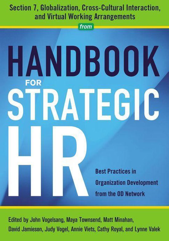 Boek cover Handbook for Strategic HR - Section 7 van Od Network (Onbekend)