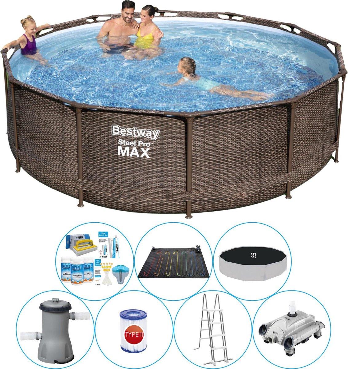 Zwembad Inclusief Accessoires - Bestway Steel Pro MAX Rattan 366x100 cm