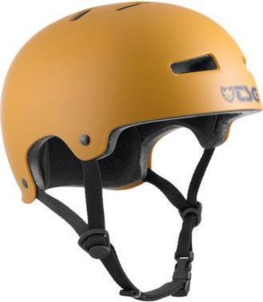 TSG Evolution skatehelm satin yellow ochre