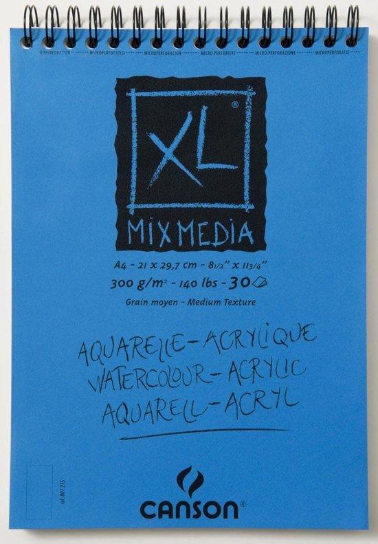 Canson Aquarelblok - A4 aquarelpapier wit - 30 vellen