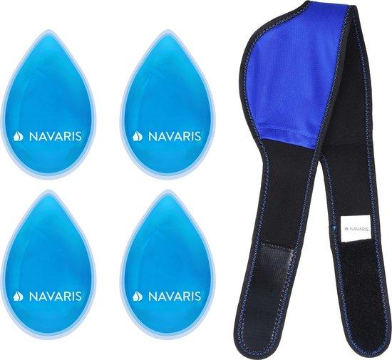 Navaris hot & cold pack - Herbruikbaar koud en warm kompres - Verkoelende en verwarmende band - Voor gezicht, voorhoofd en lichaam