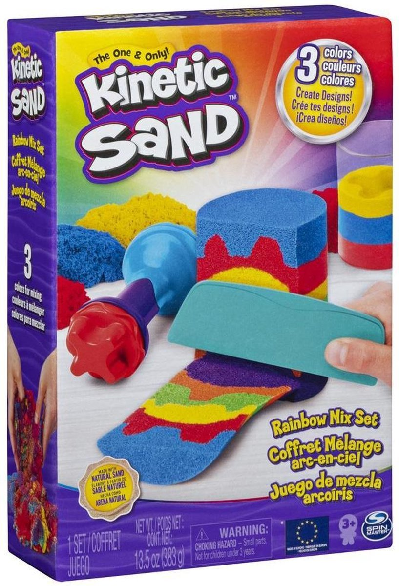 Kinetic Sand Zandmixset Regenboog Junior 381 Gram Rood/geel/blauw