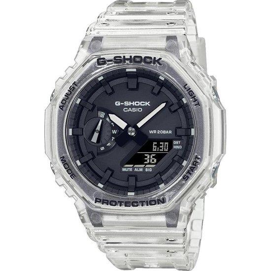 Casio GA-2100SKE-7AER G-Shock uniseks  horloge transparant  zwarte wijzerplaat