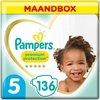 Pampers Premium Protection Luiers - Maat 5 (11-16 kg) - 136 stuks - Maandbox