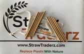 Strawsome StrawTraderz Rietjes - Herbruikbare Bamboe Rietjes Set 10 Stuks & Ananas Schoonmaak Borstel - 14cm Lengte En Een Diameter Van 4-5.5mm