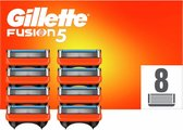 Gillette Fusion5 Scheermesjes Voor Mannen - 8 Navulmesjes - Oranje