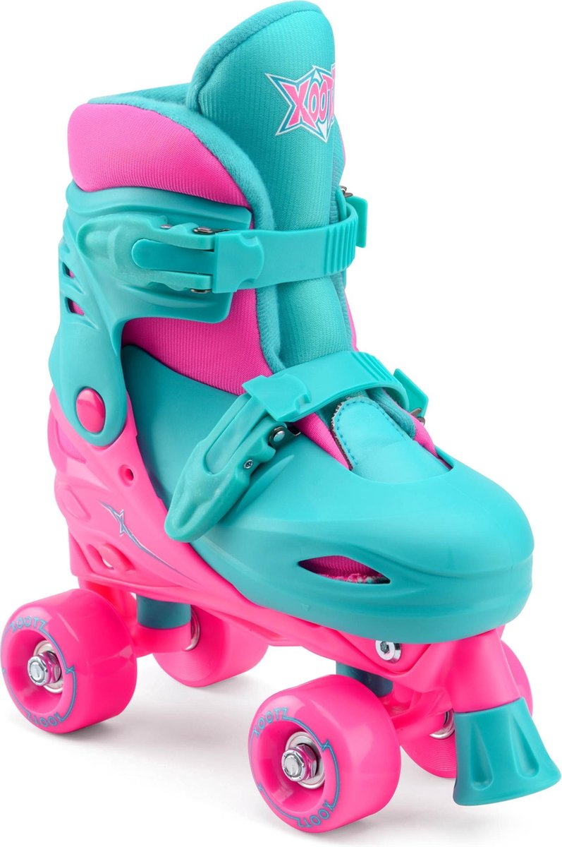 Xootz Rolschaatsen Quad Skates Meisjes Turquoise/roze Maat 28/31