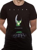 CID - Unisex Alien Poster T-shirt (Zwart)