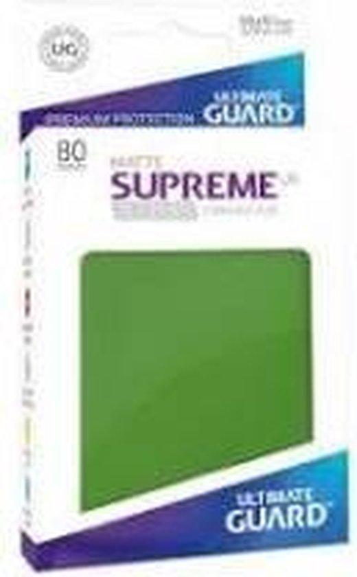 Afbeelding van het spel Supreme UX Sleeves Standard Size Matte Green (80)