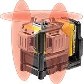 DeWALT DCE089D1R Zelfniv kruislijnlaser rood 10.8V 2.0Ah XR Li-ion
