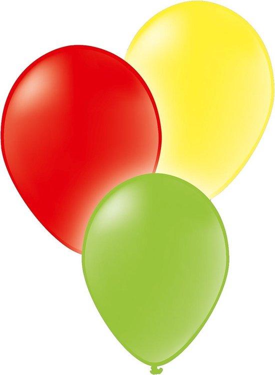 Tib Ballonnen Neon 28 Cm Latex Rood/wit/groen 16 Stuks