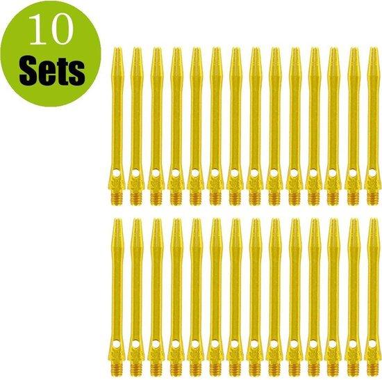 Afbeelding van het spel Aluminium Dart Shafts - Goud - Medium - (10 Sets)