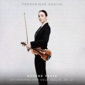 Saeijs Frederieke - Six Sonatas For Solo Violin