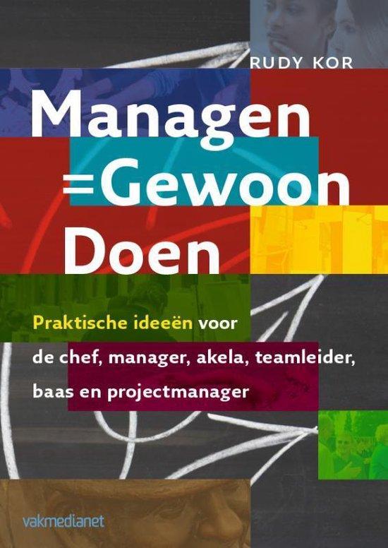 Cover van het boek 'Managen - Gewoon - Doen'