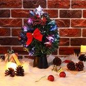 Mini kerstboom, USB, inclusief decoratie en verlichting, 26 cm