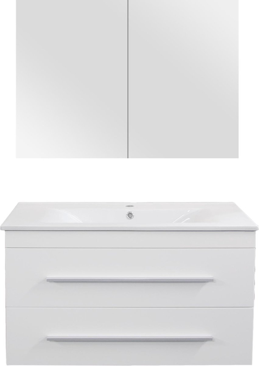 Differnz Style Badkamermeubel - 90 cm - Mat wit