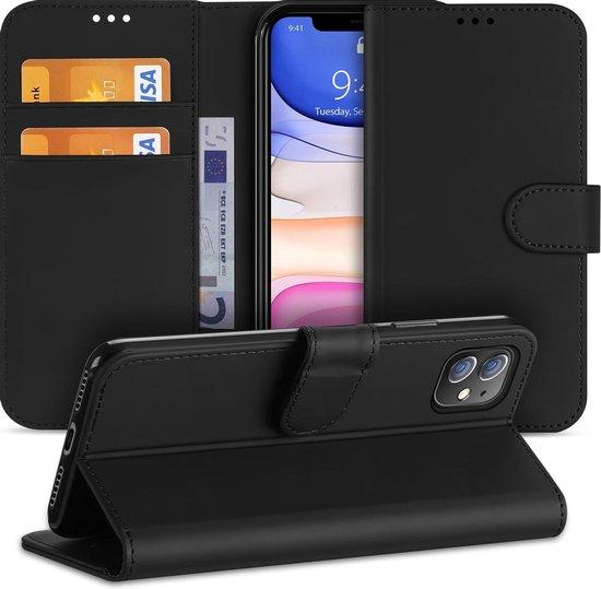 Apple iPhone 11 Hoesje Zwart met Pasjeshouder