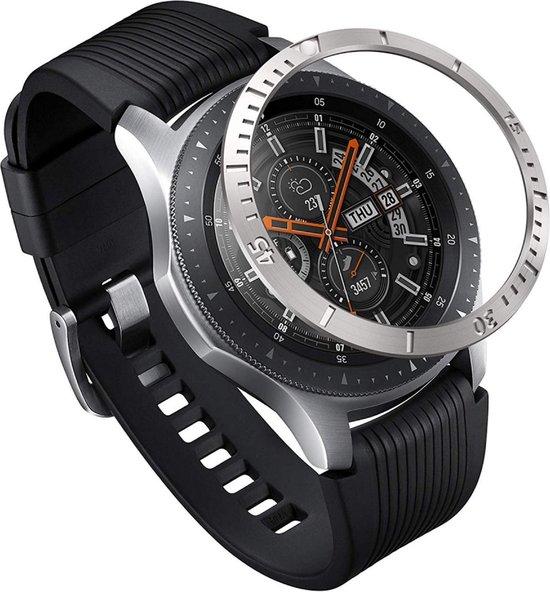 Ringke Bezel Styling Galaxy Watch 46MM Randbeschermer RVS Zilver