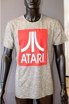 ATARI - T-Shirt Red Logo - Grey (M)