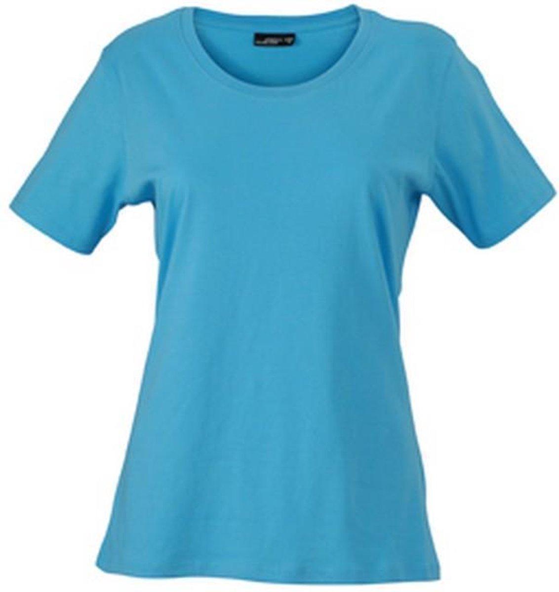 James and Nicholson Dames/dames Basic T-Shirt (Hemelsblauw)