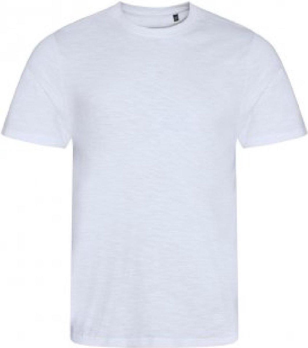 AWDis Heren Slub T Shirt (Slub Wit)