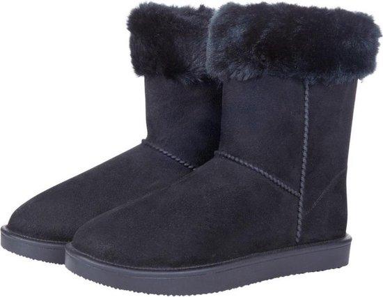 allweather Davos Fur met bontrandje waterdicht en bontgevoerde (stal)schoen zwart maat 34