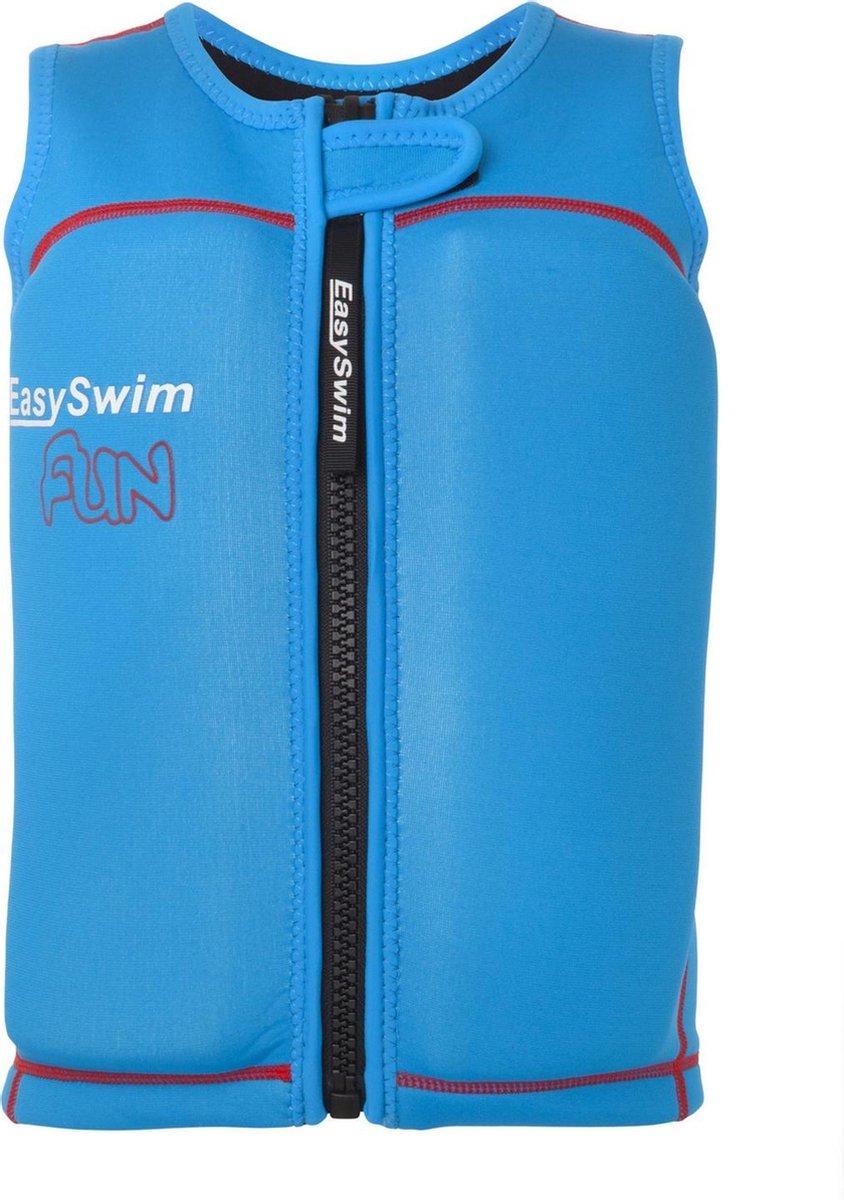 EasySwim Fun - Zwemvest kind met drijvers - Blauw - Maat L 24-28 kg